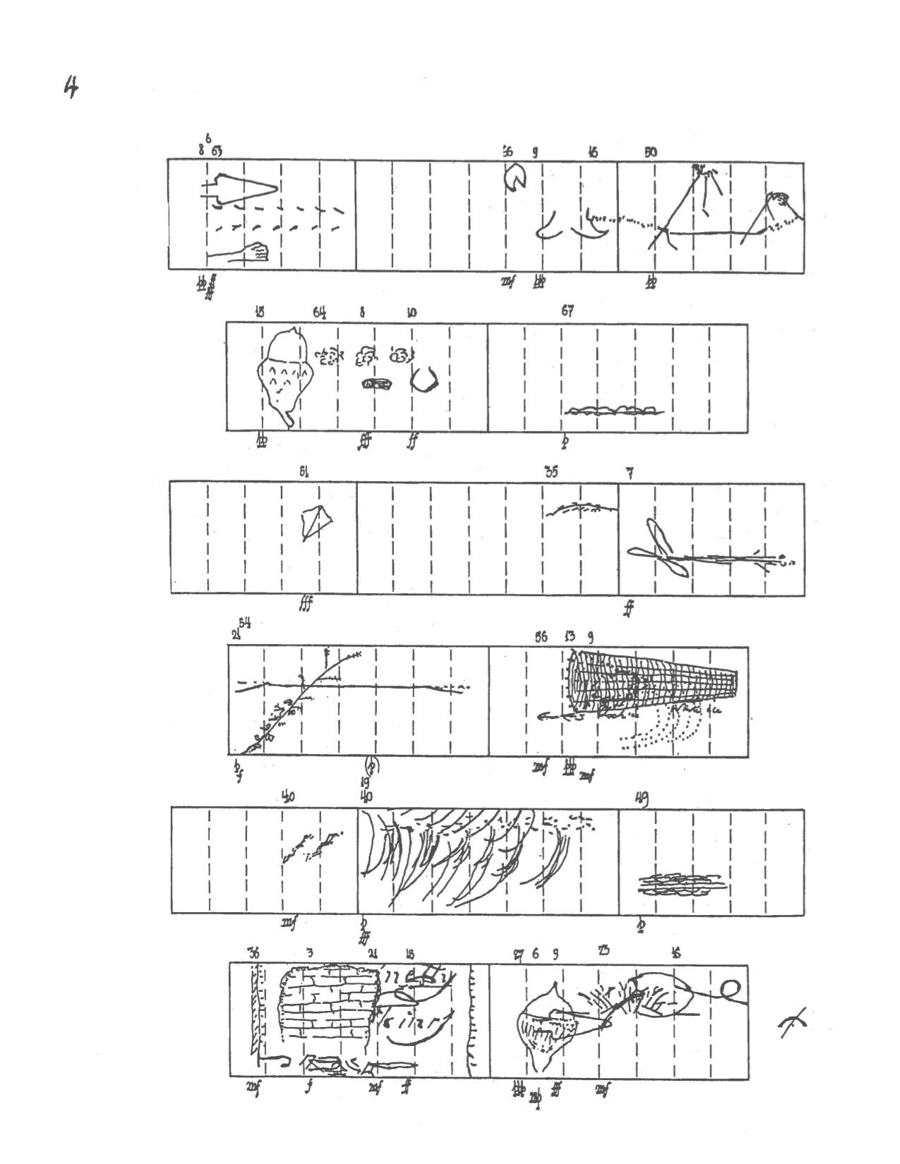"John Cage ""Renga"" 1975-76 (excerpt from graphic score)"