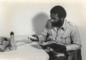Ulysses Jenkins, Just Another Rendering of the Same Old Problem, 1979. Performance. Courtesy of the artist. Photo: Nancy Buchanan.